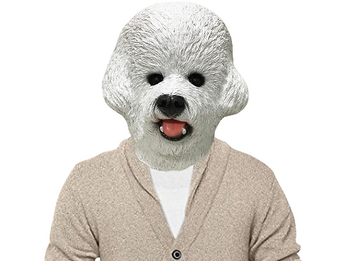 Bichon Frise Dog Halloween Costume Face Mask - Off the Wall Toys Kennel Club