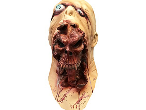Scary and Creepy Skeleton Parasite Halloween Costume Face Mask