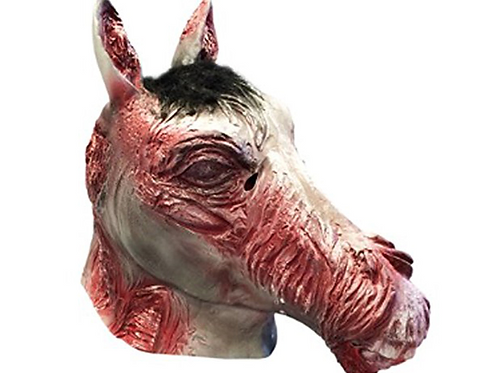 Zombie Horse Head Face Mask