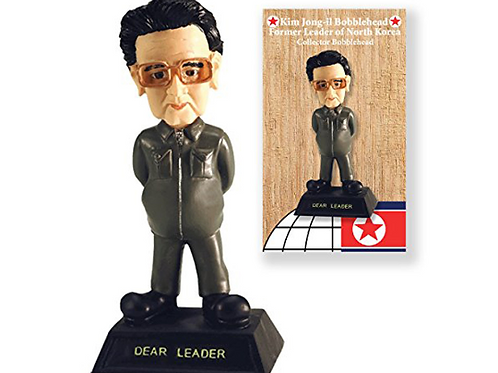 "Kim Jong Il North Korea Millitary 7"" Bobblehead in Collector's Box"