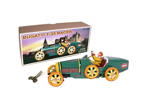 Tin Toy Collectible Bugatti T-35 Racer In Box With Key