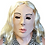 Thumbnail: Creepy Lady Costume Face Mask with Blonde Hair