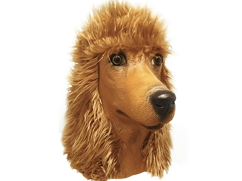Standard Poodle Dog Halloween Costume Face Mask - Off the Wall Toys Kennel Club