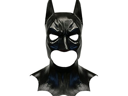 Batman Style Latex Costume Face Mask