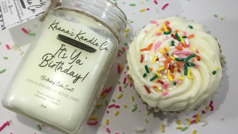 It's Your Birthday Candle (Vanilla Cupcake Scent)