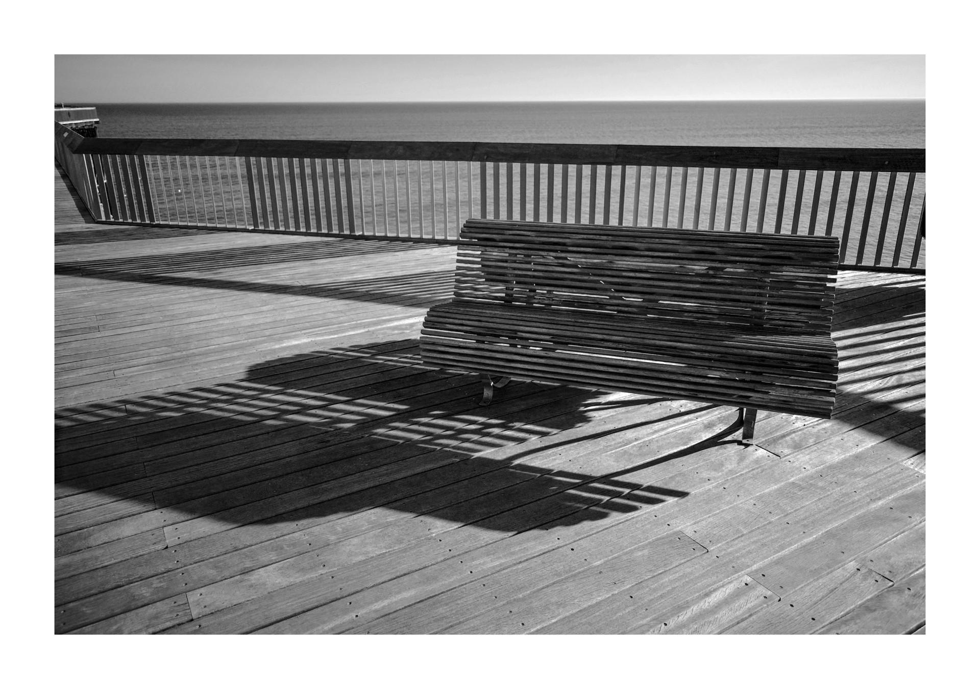 Pier bench - Hastings, 2018