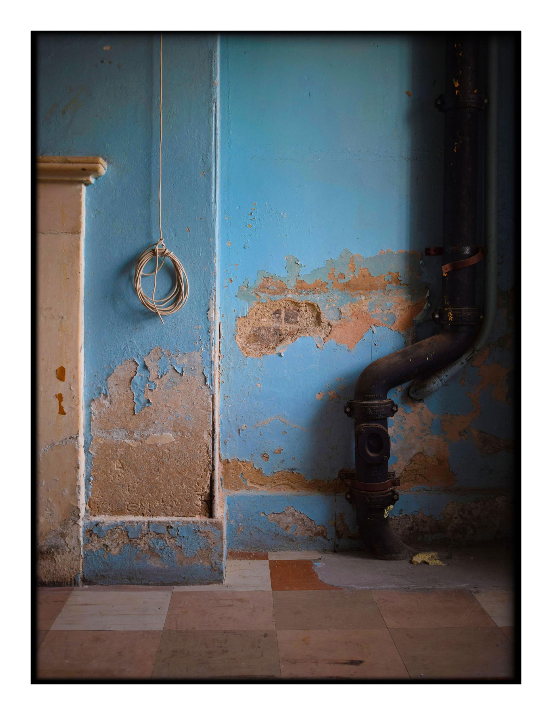 Disused kitchen - Beckenham Place Mansion, 2017
