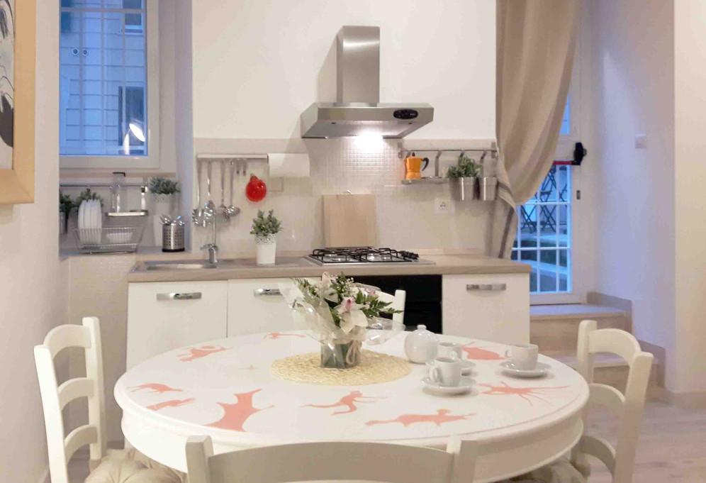 Kitchen MomaRoom Guest House