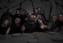 'ultima cena' con artisti maam