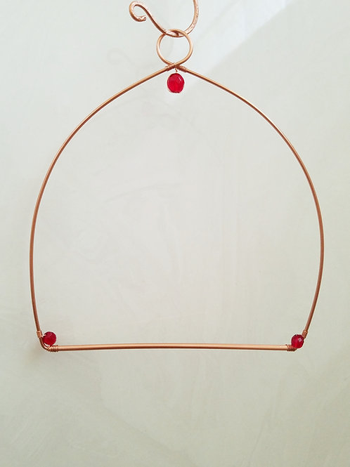 Hummingbird Swing or Perch, Copper, Jeweled