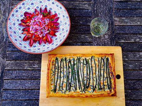 Recipe: Issy's Asparagus Tart with Optional Smoked Salmon from A Homage to Home