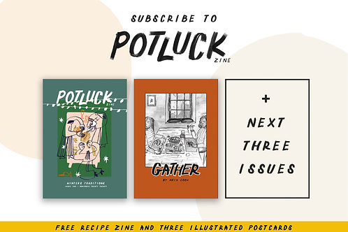 4 Issue Subscription to Potluck