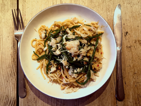 Recipe: Issy's Seasonal Crab Linguine from A Homage to Home
