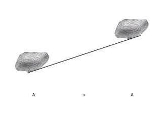 dessin de Les : pierre = 1 : 1