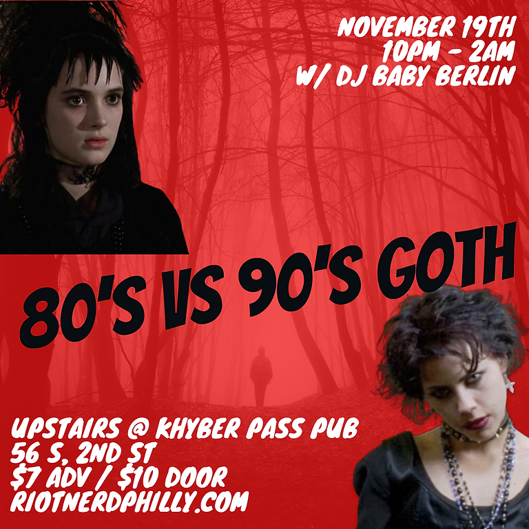80's Vs 90's Goth Dance Party