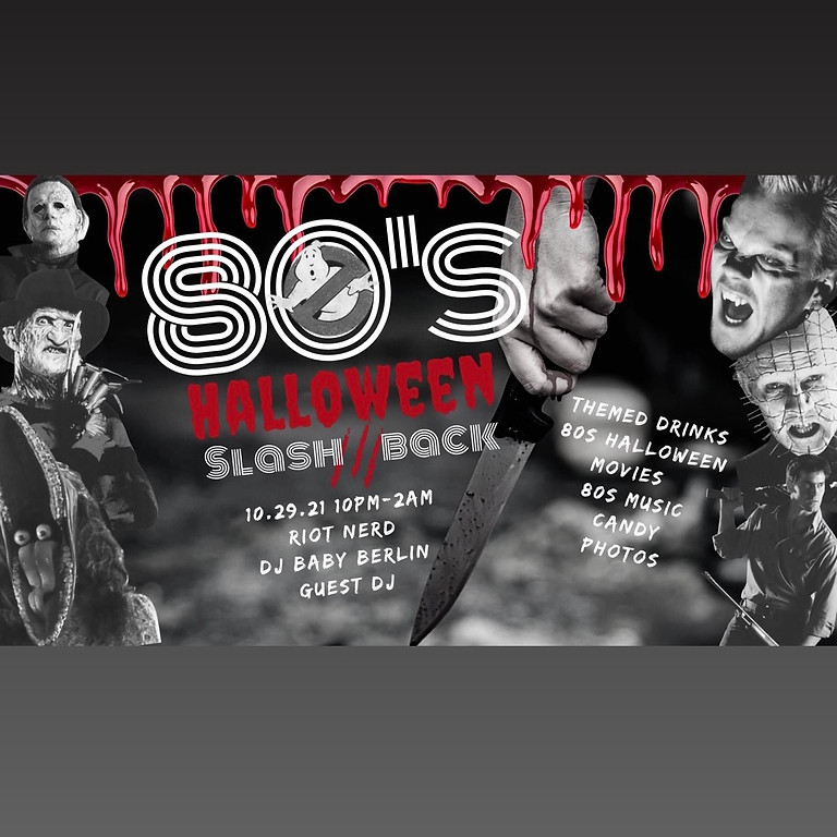 80's Halloween Slash Back