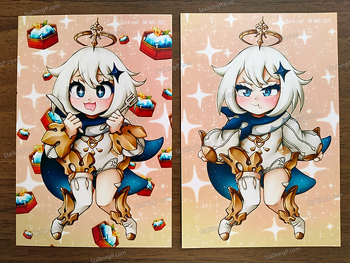 [Limited] Paimon double-sided postcard (Term 047 - JAN21)