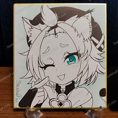 Mini Shikishi - Diona from Genshin Impact (Color Pop)