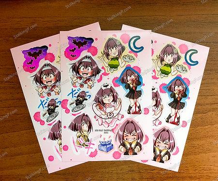 "[Limited] ""Chibi Vampire"" Karin Stickers (Term 050 - APR21)"