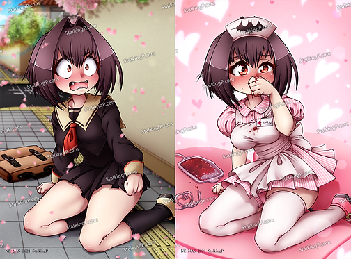 """[Limited] """"Chibi Vampire"""" Karin double-sided postcard (Term 050 - APR21)"""
