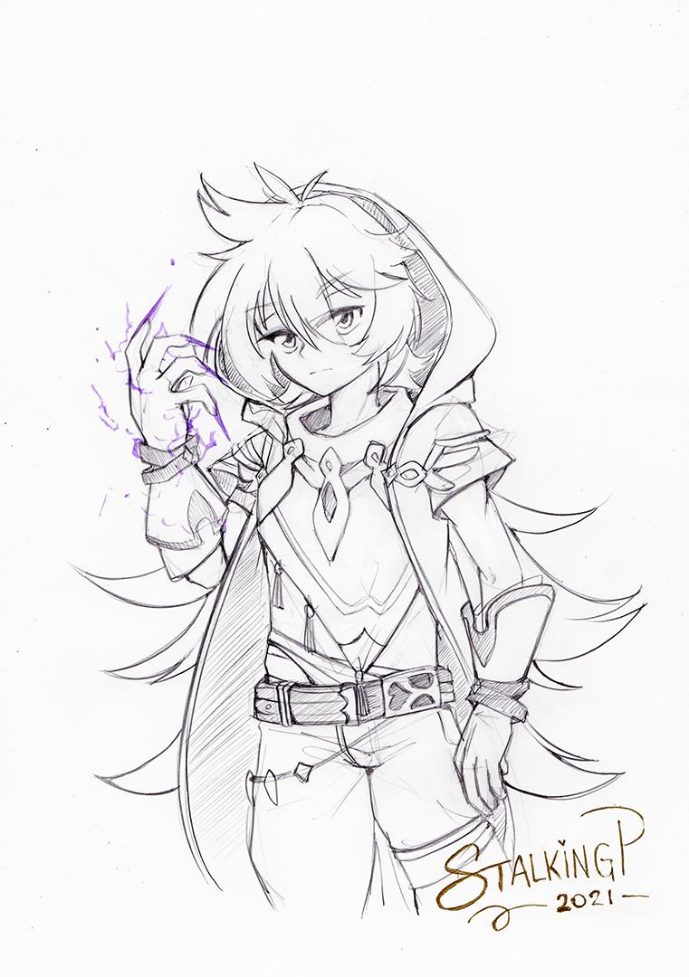 Half body Sketch