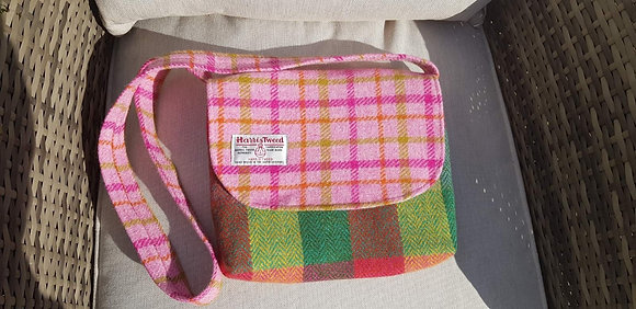 One-off handmade handbag, made from Harris Tweed wool