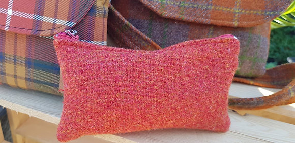 Handmade case made from orangeHarris Tweed