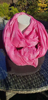 Pink mulberry tree lightweight fashion scarf