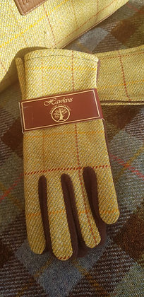 100% WoolHawkins mustard and green tweed