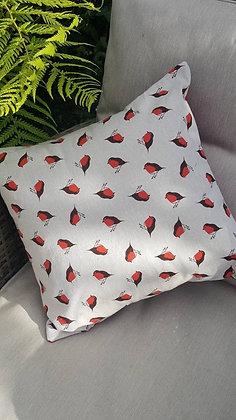 Handmade mini robins cushion