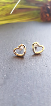 925 sterling silver heart-shapedearrings with sterling silver butterfly backs