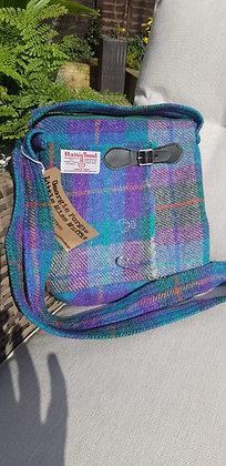 One-off handmade cross body bag, kilt style with a kilt pin