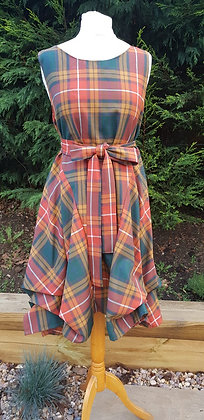 Handmade Alice dress in the Buchannon tartan