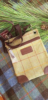 Hawkins traditional tweed.Mustard and green