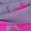 Thumbnail: Supersoft cerise pink and grey star scarf, which is reversable