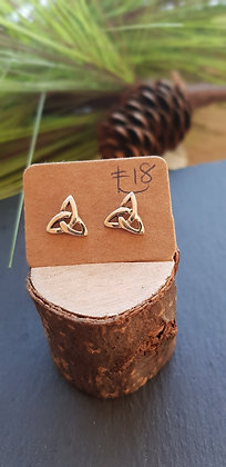 925 sterling silver celtic infinity knots with sterling silver butterfly backs