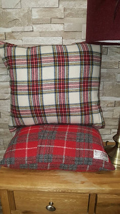 A one-off 100% white red and paid cushion
