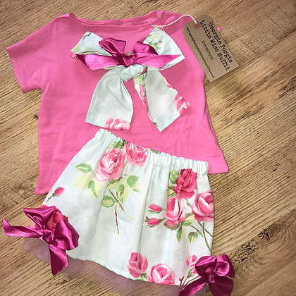Handmade floral 2 piece outfit