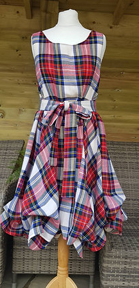 One-off handmade Dress Stewart tartan dress