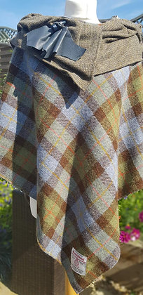 One-off handmade poncho made from traditional MaCleod Harris Tweed cloth