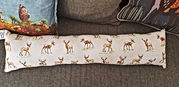 Handmade draught excluders in a range of fabrics
