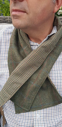 One-off handmade 100% tweed wool scarf. Lined with superfine 100% woo