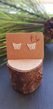 925 sterling silver butterfly earrings with sterling silver butterfly backs