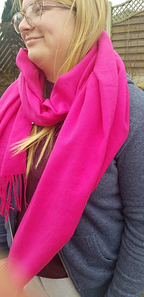 Supersoft bright cerise pink scarf