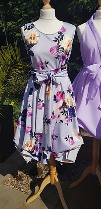 Handmade lilac bouquet Alice style dress