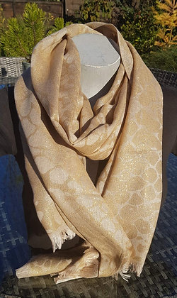 Extra large woven animal print with metallic thread