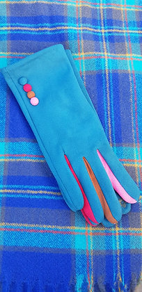 Supersoftturquoise blue gloves