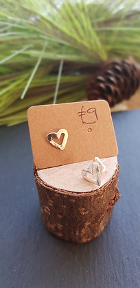 925 sterling silver heart earrings