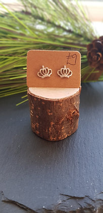 925 sterling silver crown earrings with cubic zirconia