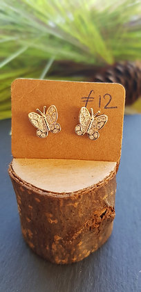 925 sterling silver butterfly earrings full of cubic zirconia with sterling silv